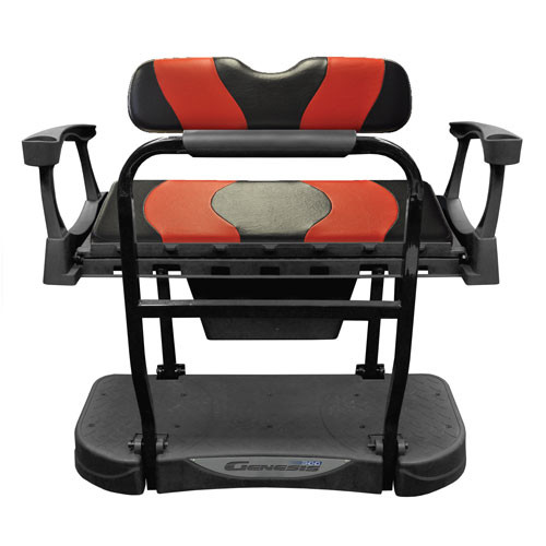 Madjax Genesis 250 Rear Flip Seat with Black/Red WAVE Standard Cushions