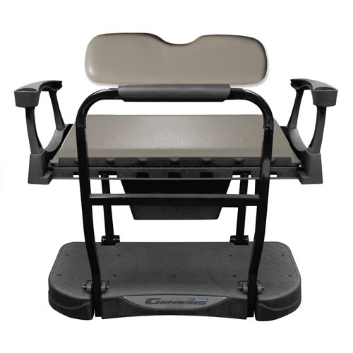 Madjax Genesis 300 Aluminum Rear Flip Seat with Grey Standard Cushions