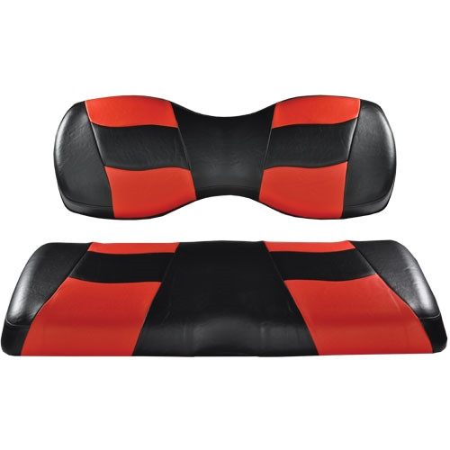 Madjax RIPTIDE Black/Red Deluxe Rear Seat Cushion Set