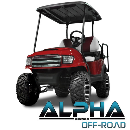 Madjax Red ALPHA Off-Road Front Cowl Kit - Fits Club Car Precedent (2004-Up)
