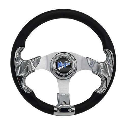 "Madjax 13"" RAZOR2 Chrome Steering Wheel (Includes Hub Adapter)"