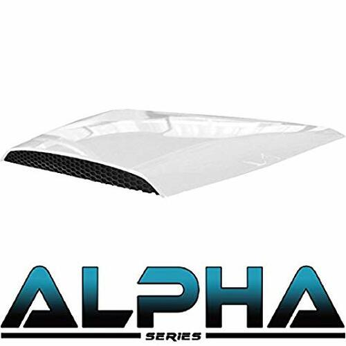 Madjax White Hood Scoop for ALPHA Front Cowl