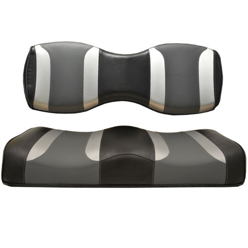 Madjax TSUNAMI Black Liquid Silver w/ Lagoon Grey Rear Seat Cover