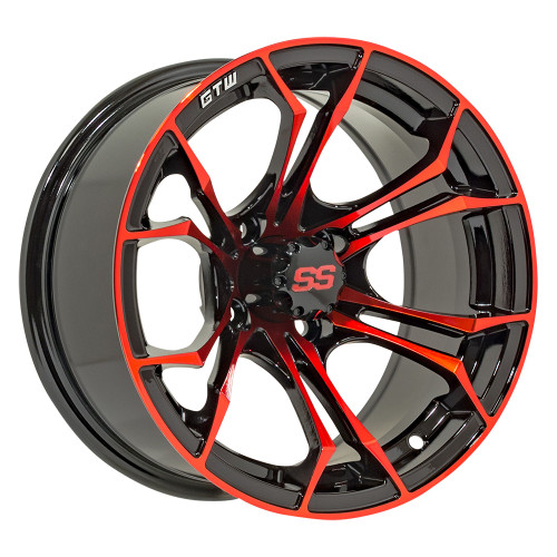 "14"" GTW Black/Red Spyder Wheel"