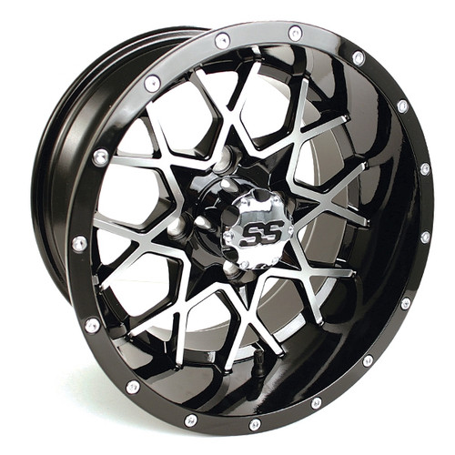 GTW 12x7 VORTEX Machined/Black Wheel