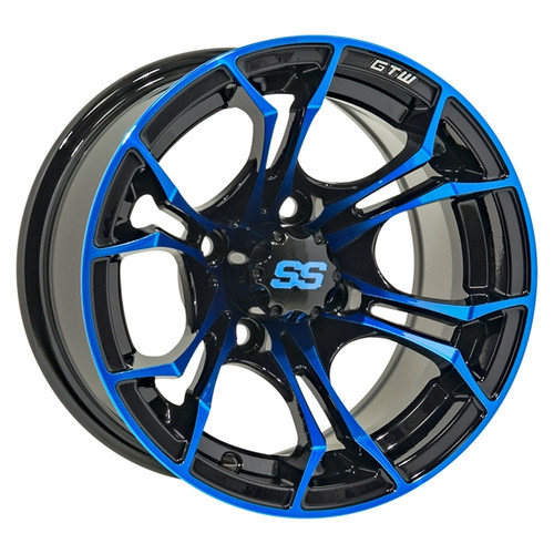 GTW 12x7 SPYDER Black/Blue Wheel
