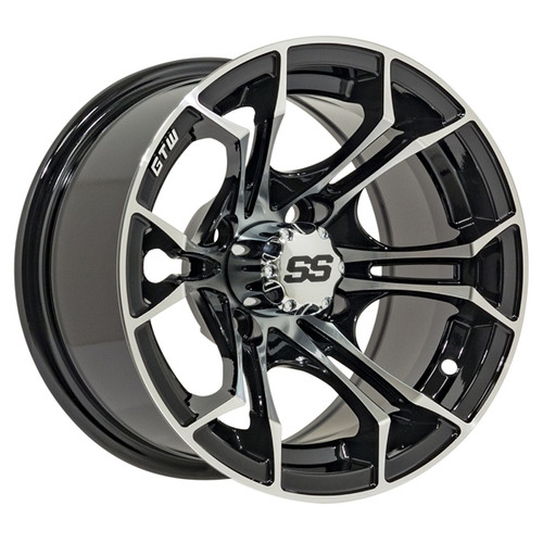 "GTW 12"" SPYDER Machined/Black Wheel"