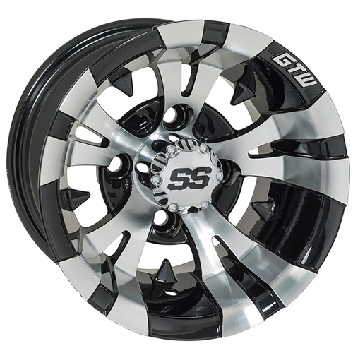 "GTW 12"" VAMPIRE Machined/Black Wheel"
