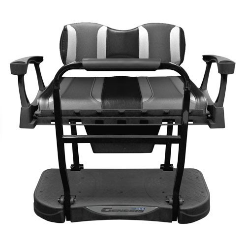 Madjax Genesis 250 Rear Seat with TSUNAMI Black Liquid Silver/Lagoon Grey Cushions