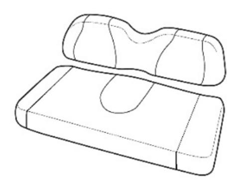 Front Seat Cushion Set (Black) - Fits Yamaha G29/Drive (2007-2016)