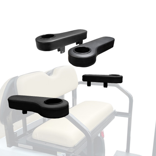 Arm Rests (Black) - Fits Challenger HD Rear Seats