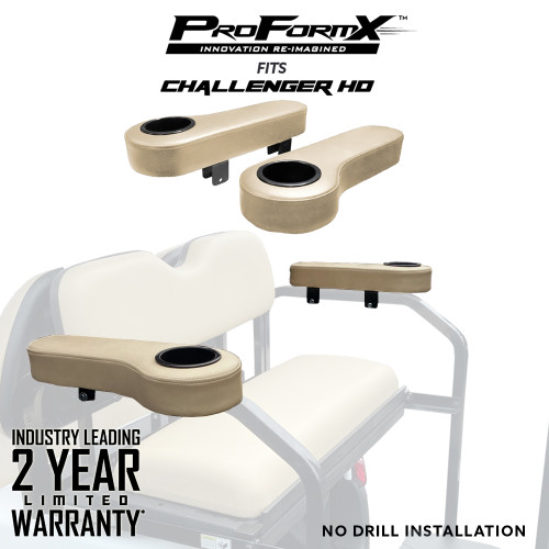 Arm Rests (Tan) - Fits Challenger HD Rear Seats