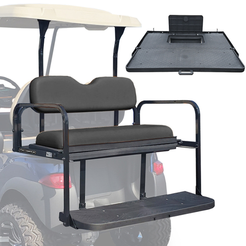 Challenger SE Rear Seat - Fits Club Car Precedent/Onward/Tempo (Black Cushions)