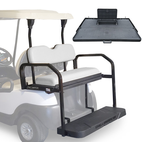 Challenger HD Rear Seat - Fits Club Car Precedent/Onward/Tempo  (White Cushions)
