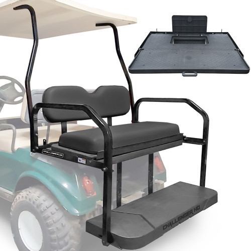 Challenger HD Rear Seat - Fits Club Car DS 1982-up  (Black Cushions)