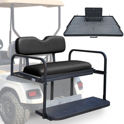 Challenger SE Rear Seat - Fits E-Z-GO TXT/Freedom  1994.5-up  (Black Cushions)