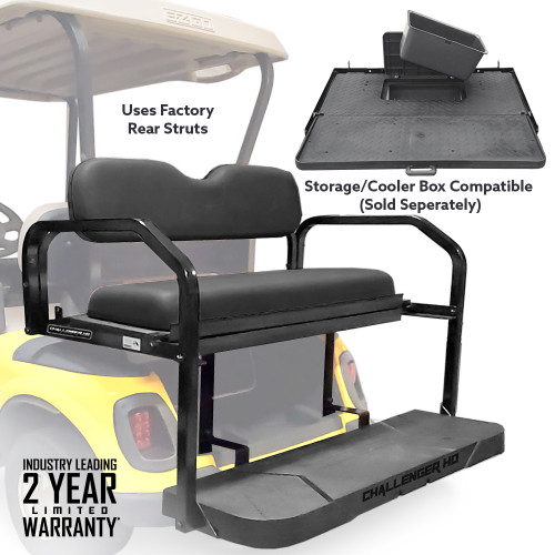 Challenger HD Rear Seat - Fits E-Z-GO RXV 2008-up  (Black Cushions)