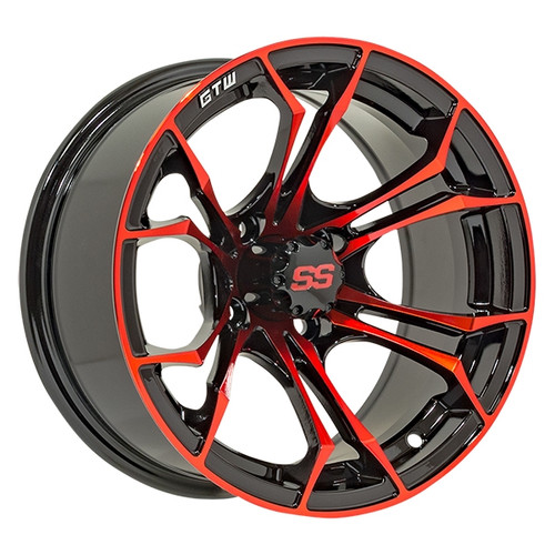 GTW 12x7 SPYDER Black/Red Wheel