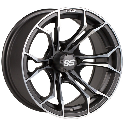 "GTW 12"" SPYDER Matte Gray/Machined Wheel"