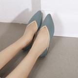 Paisley Blue Flats