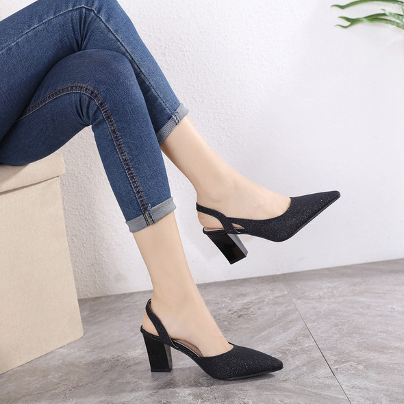 Savannah Black Heels