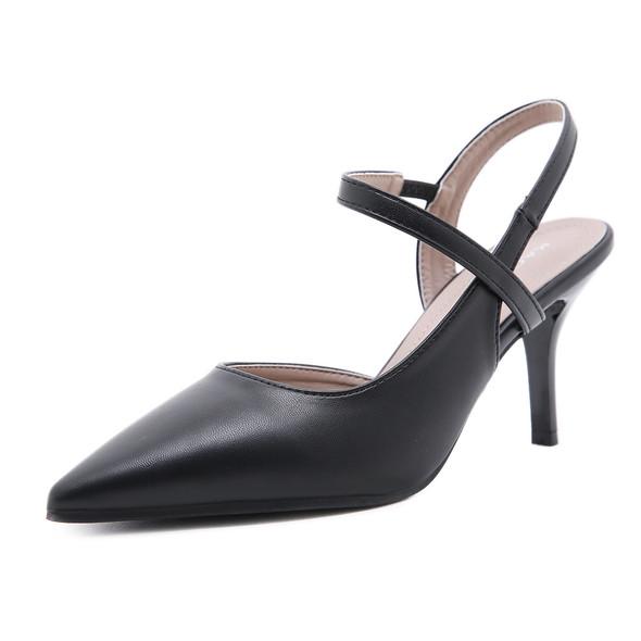 Valentina Black Heels