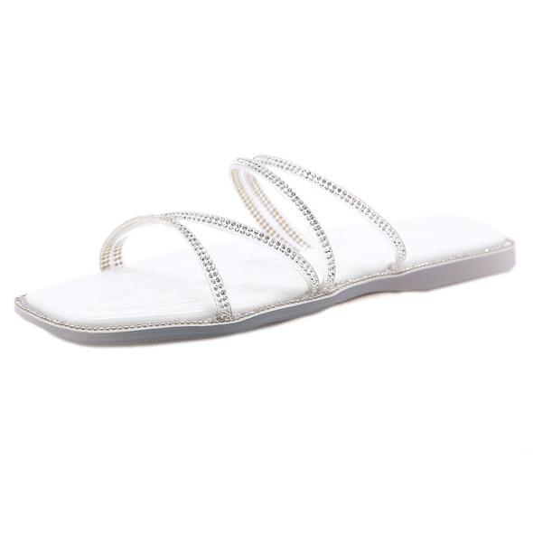 Evelyn White Sandals