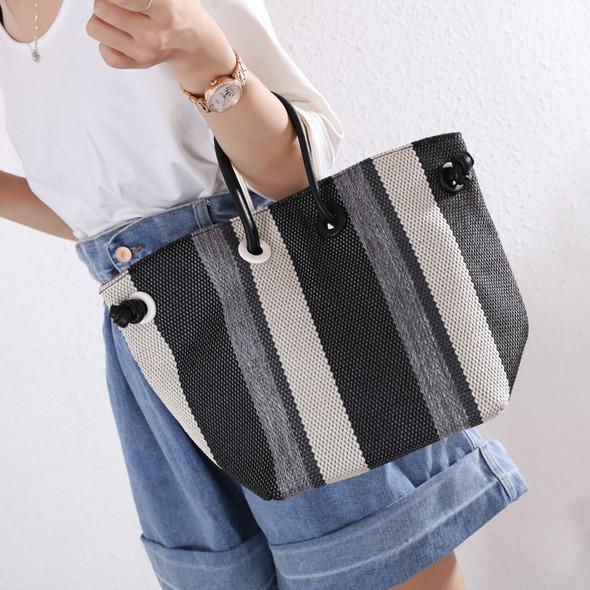 Aaliyah Black & White Bag