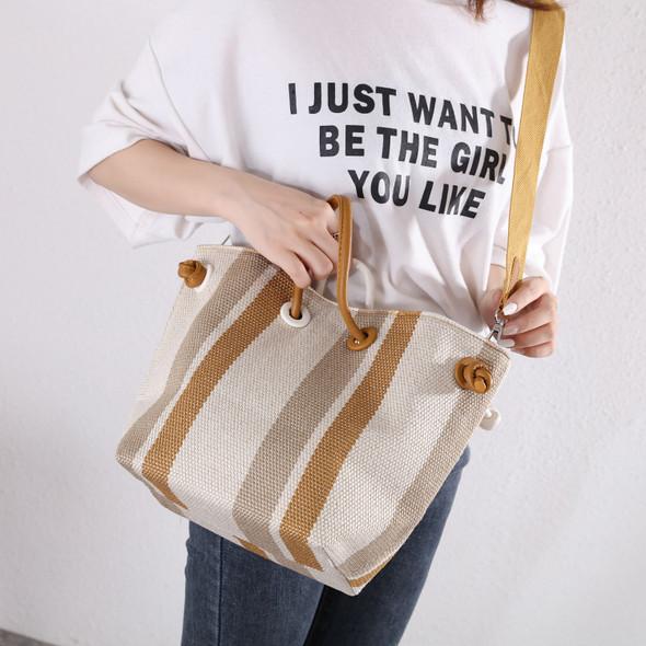 Aaliyah Yellow & White Bag