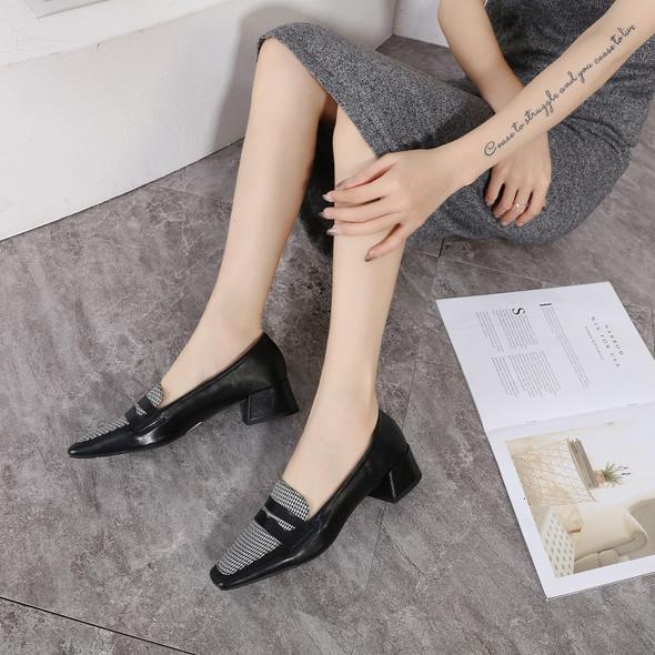 Genevieve Black&Black Heels