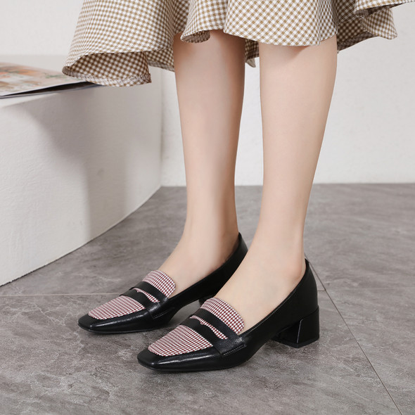 Genevieve Black&Red Heels
