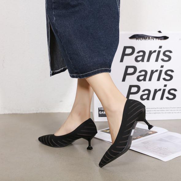 Alina Black Heels