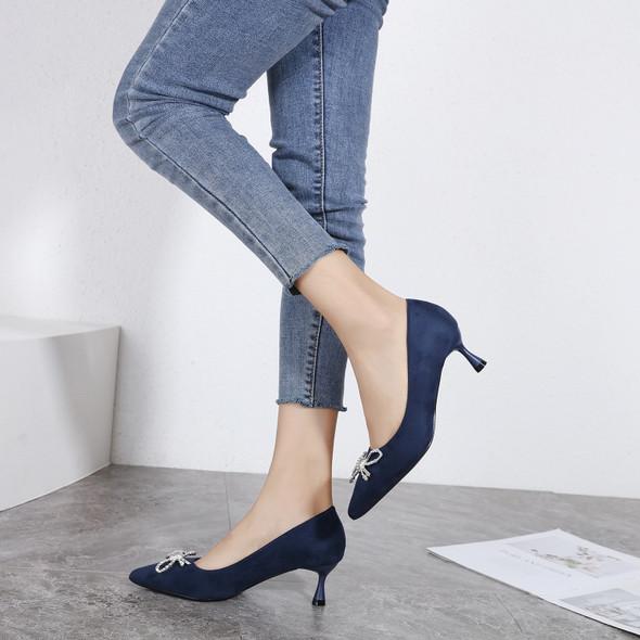 Juliana Blue Heels
