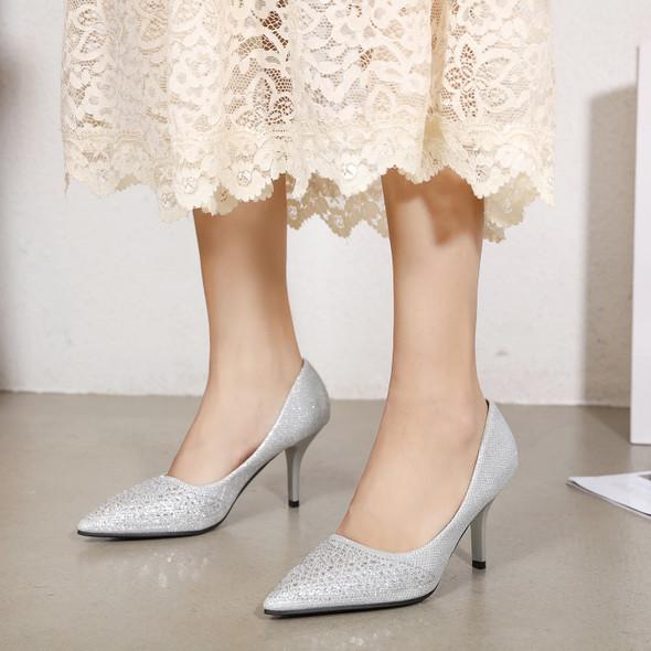 Rosalie White Heels