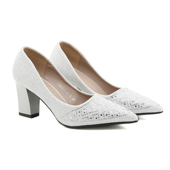 Alyssa White/Silver Heels