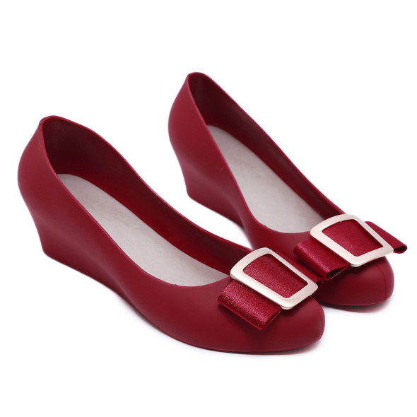 Gia Red Jelly Heels
