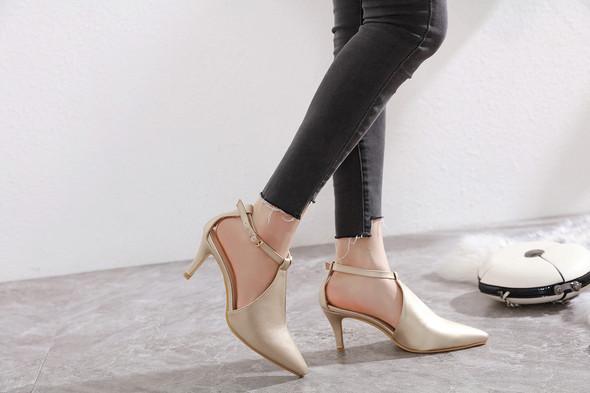 Andrea Gold Heels