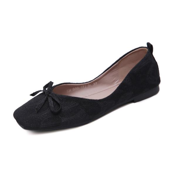 Penelope Black Flats - Online 50% off