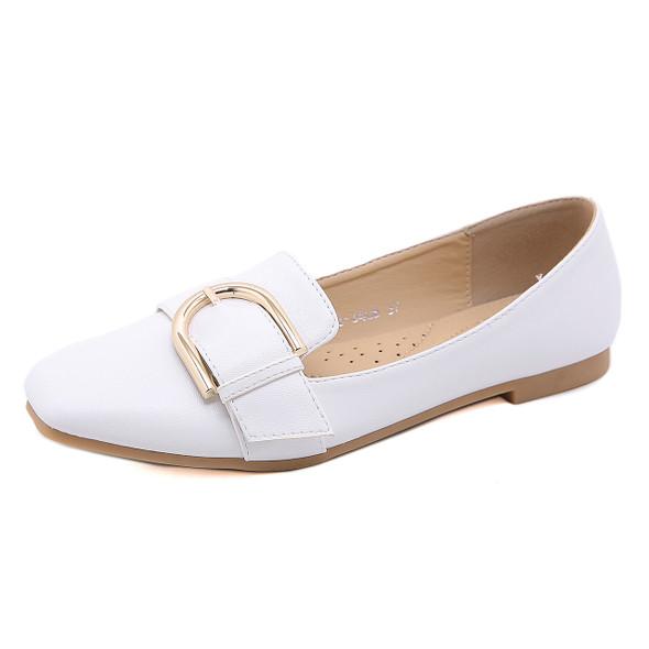 Kira White Flats- 30% off online only