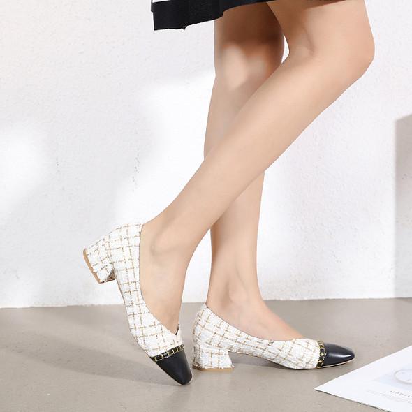 Janine White Heels