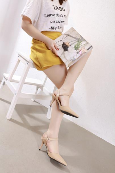 Violet Beige Heels