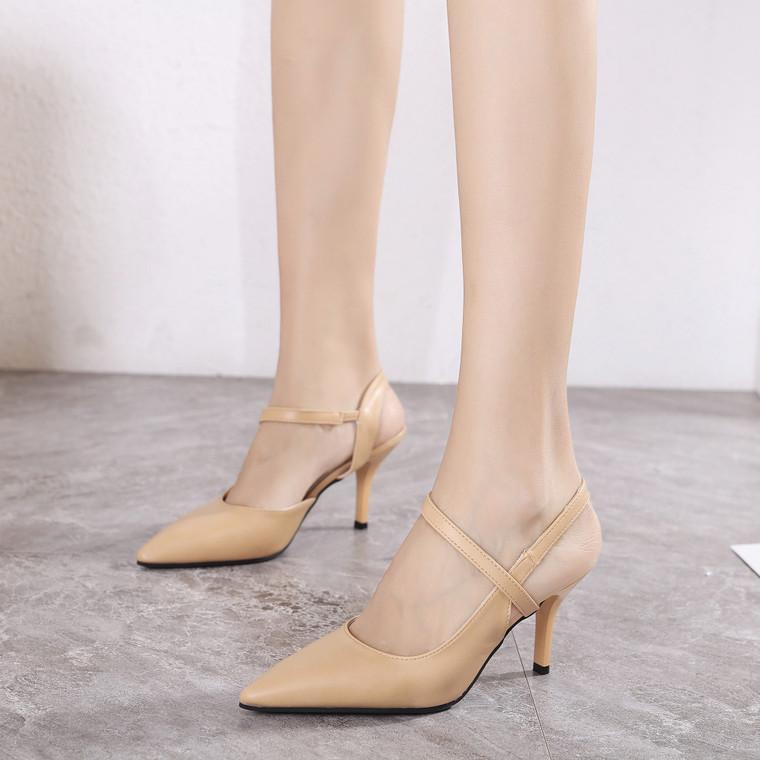 Valentina Beige Heels