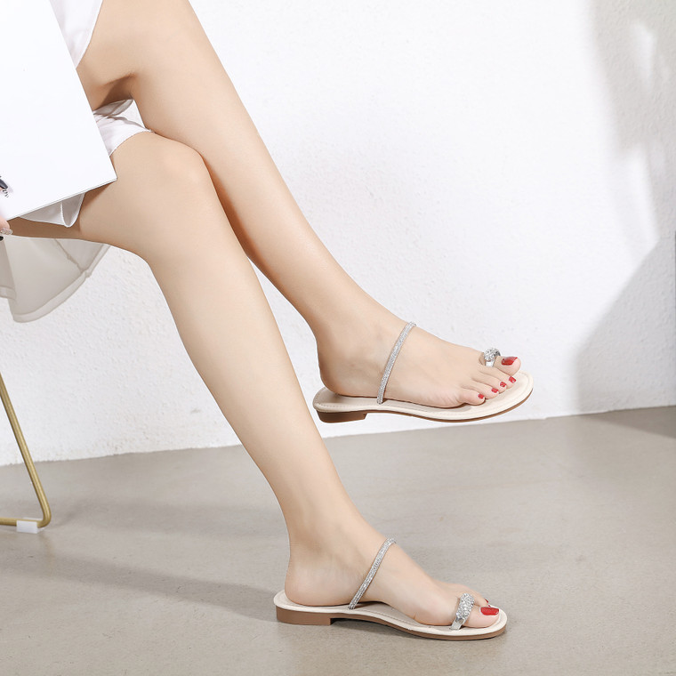 Serenity Silver Sandals