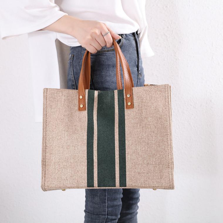 Patricia Beige & Green Bag