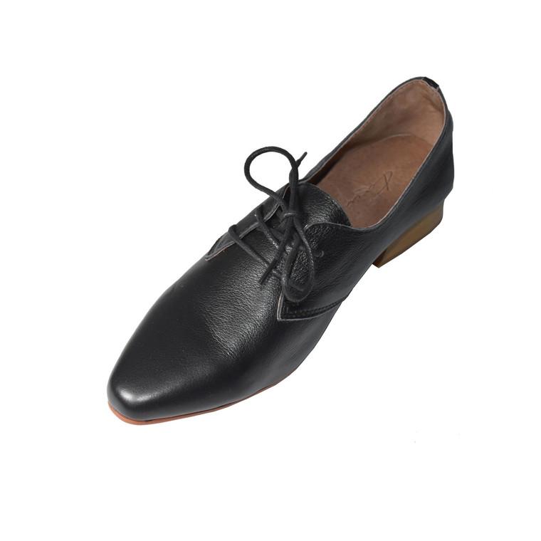 Ju Leather BLACK Flats