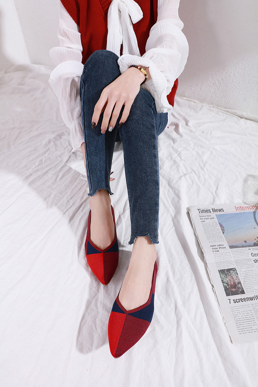 Bailey Red/Blue Flats