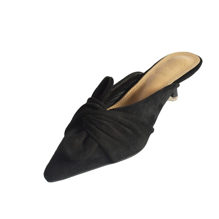 Elizabeth Black Mule Heels