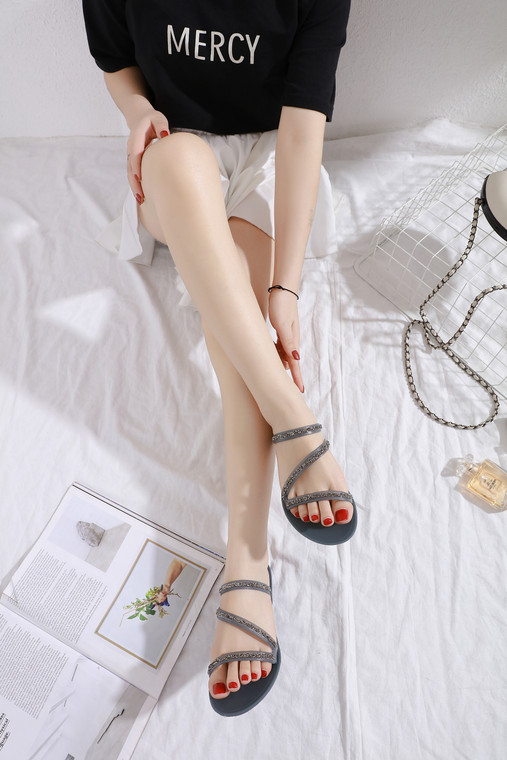 Naomi Grey Jelly Sandals