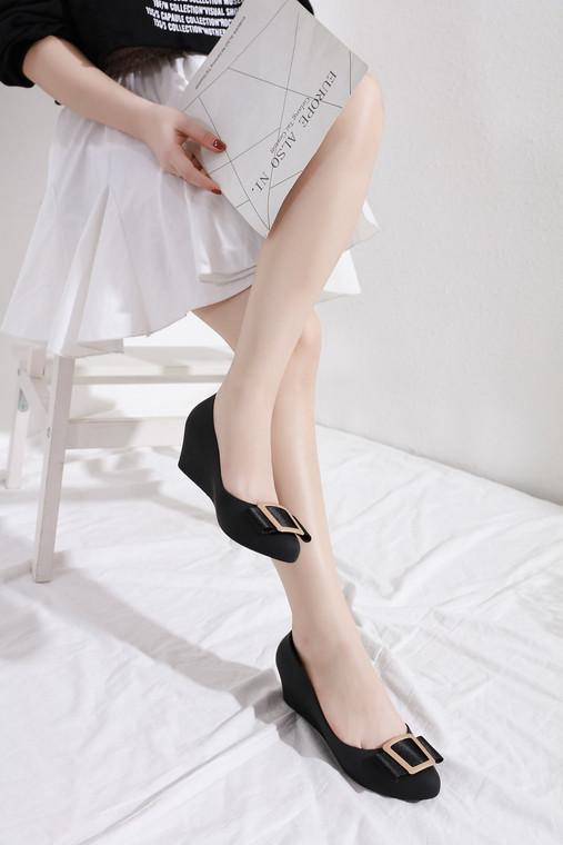 Gia Black Jelly Heels