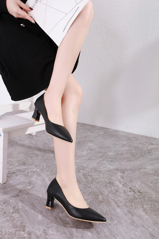 Addison Black Heels